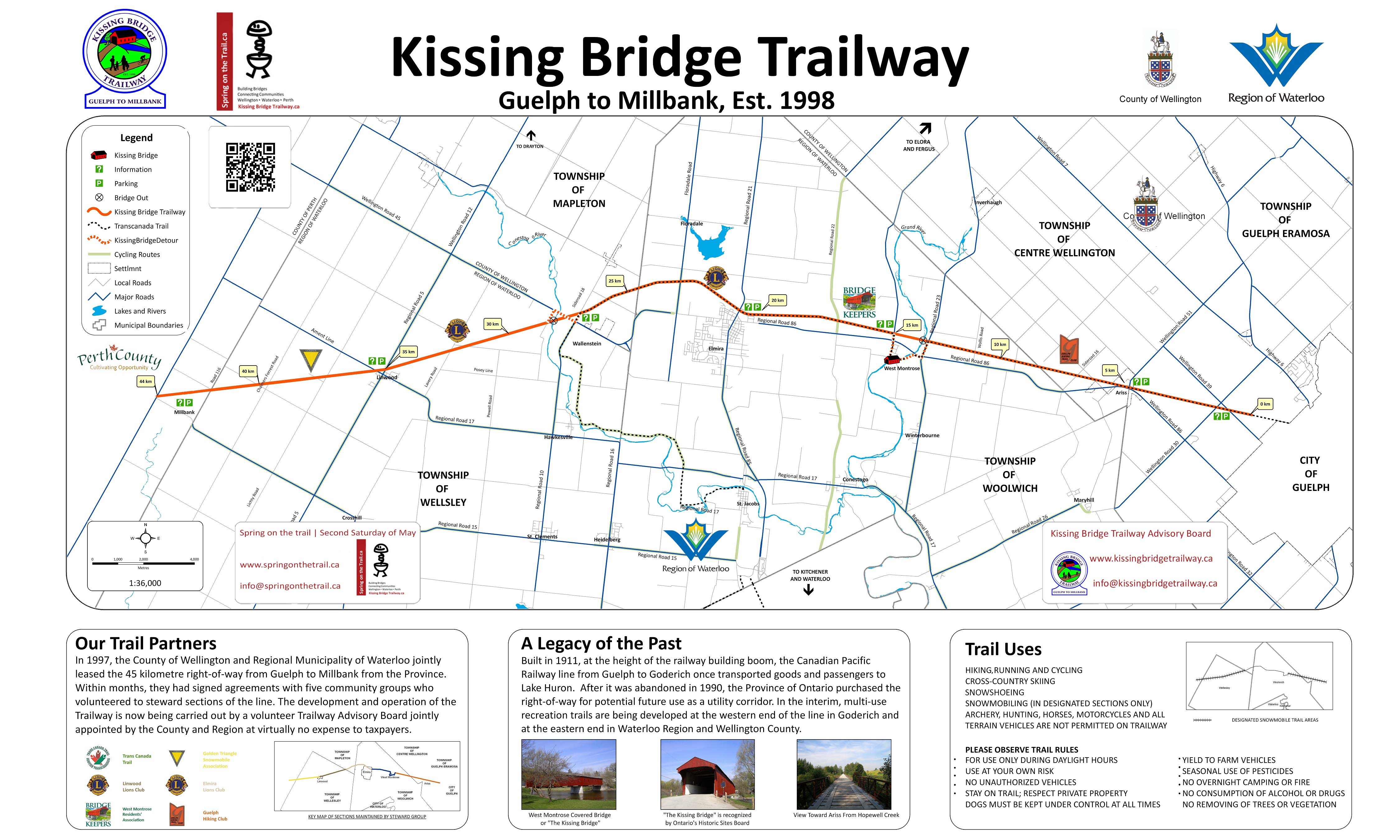 Kissing Bridge Trailway Locations and Maps